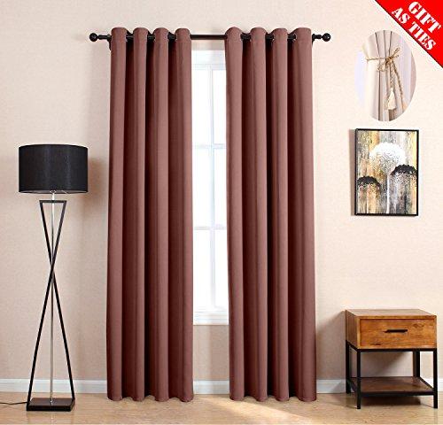 LOFT store Verdunklungsvorhänge Verdunkeln Isoliert Fashion Tülle Fenster Vorhang für Wohnzimmer Schlafzimmer 52Wx95L Coffee(2 Panels) - Loft Vorhang