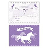 Einladungskarten Einschulung Schulanfang Jungen Mädchen 8 Stück - Pferde