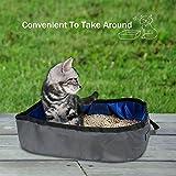 Zehui zusammenklappbar Katze WC-Becken deodorization spritzwassergeschützt Katzentoilette Pet Supplies