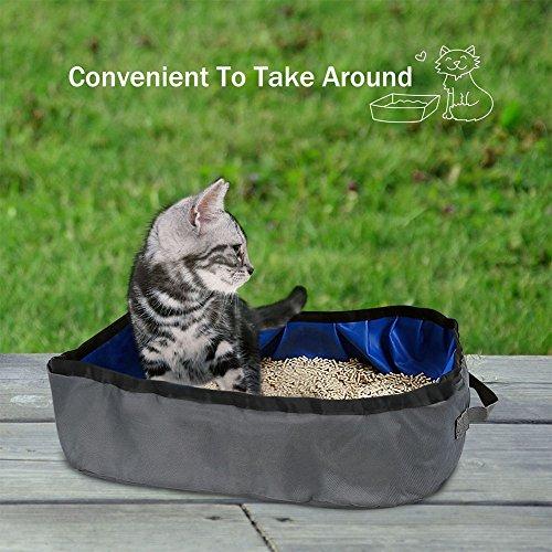 Etbotu pieghevole gatto WC lavabo Deodorizzazione splash-proof lettiera per animali