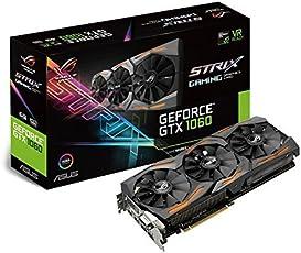 ASUS ROG Strix GeForce GTX1060-6G Gaming Grafikkarte (Nvidia, PCIe 3.0, 6GB GDDR5 Speicher, HDMI, DVI, Displayport)