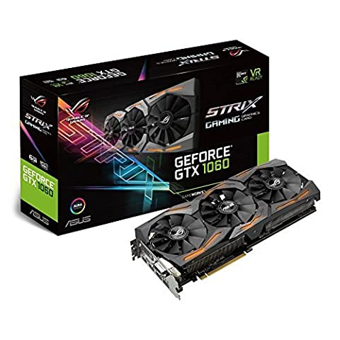 Asus ROG Strix GeForce GTX1060-6G Gaming Grafikkarte (Nvidia, PCIe 3.0,