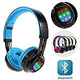 Lemonda LED Bluetooth Kopfhörer, die Unterstützung von AUX-In / Mic / TF-Karte, Over-Ear-Kopfhörer, Geräuschunterdrückung, integrierte Mikrofon, Kopfhörer für PC/ Smart Phone/ Iphone6/ Ipad/ Samsung/ PSP/ iPod/ MP5-Player/ Android?Blau?