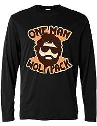 Camiseta de manga larga hombre - One Man Wolfpack - Long Sleeve 100% algondon LaMAGLIERIA