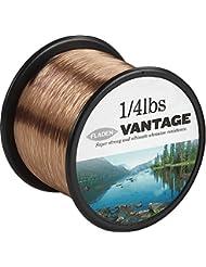 Fladen Vantage Pro Bulk 1/4lb Bobinas de extra fuerte línea de monofilamento de pesca (transparente y marrón)–Viene en 3, 6, 10, 12, 14, 18, 23, 28, 35, 45y 55Lbs, marrón