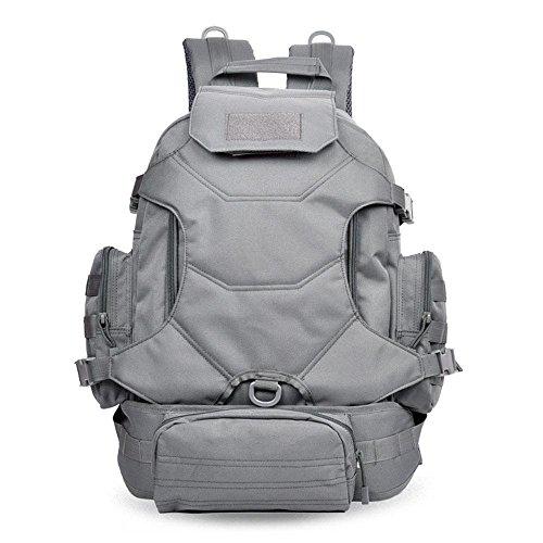 Outdoor Rucksack Large Capacity Travel Bergsteigen Tasche Camouflage Tasche Casual Computer Rucksack Grey