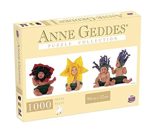 Grandi Giochi GG90107 - Puzzle Anna Geddes 1000 Pezzi, Flowers Panorama