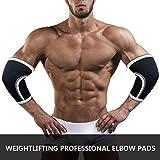 Appareil de Musculation du Coude Sportif Force du Coude Squat avec Bench Press Prévention de la Pression Arthrite Tendinite 7 mm,M