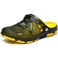 Mens Clogs Lightweight Non Slip Garden Kitchen Hospitcal Beach Yard Pool Shower Summer Sandals Black Yellow Blue UK6-15