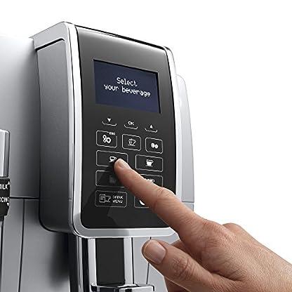 DeLonghi-Dinamica-ECAM-35035SB-Kaffeevollautomat-Digitaldisplay-Profi-Aufschumdse-Lieblingsgetrnke-auf-Knopfdruck-Herausnehmbare-Brhgruppe-2-Tassen-Funktion-silber