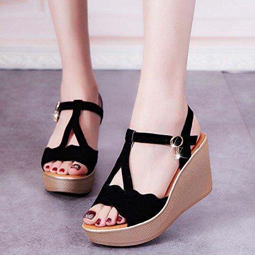 Lgk & fa estate sandali estivi da donna extra tacco con fondo impermeabile  piattaforma spessi sandali