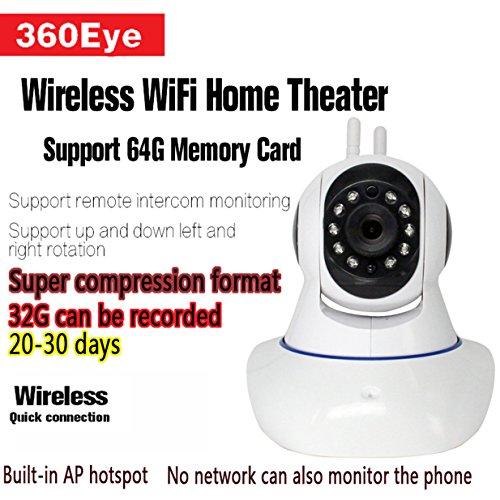 IP Kamera System & ¨¹berwachungskamera Mit Monitor, Wifi Kamera Live Dome Kamera Wlan - IP Cam Audio / HD drahtlose IP-Kamera - Kommt mit PTZ Image Capture
