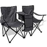 Camping-Stuhl doppelt 155x 47x 84cm grau