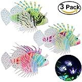 Ornamento flotante de las decoraciones de Lionfish del silicón artificial del pescado 3pcs