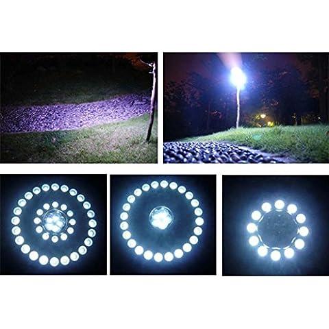 HuntGold 1X Durable Camping Senderismo, Pesca Tienda de campaña lámpara colgante, diseño de Top 41iluminación LED brillante