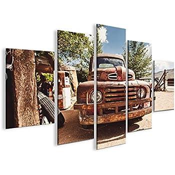Bild auf Leinwand Vintage Ford US Cars MF XXL Poster Leinwandbild Wandbild
