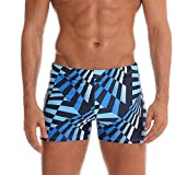iYmitz Bademode Herren, Männer Übergröße Feste Atmungsaktive Badebekleidung Shorts Slim Strand Badeshorts Badehose(Blau,EU-42/CN-M)