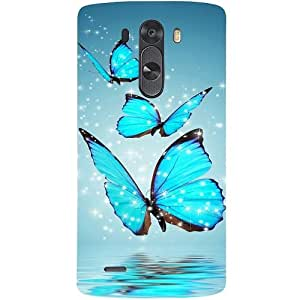 Casotec Flying Butterflies Design Hard Back Case Cover for LG G3 Mini