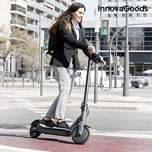 "InnovaGoods Patinete Eléctrico Plegable Pro 8,5\'\' 7800 mAh 350W Negro, Adultos Unisex, Gris, 8,5\"""