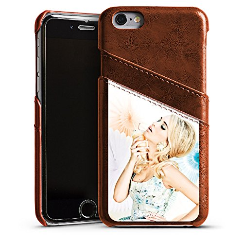 Apple iPhone 5s Housse Étui Protection Coque Lena Hoschek Spring Summer Tendance 2016 Glace Étui en cuir marron
