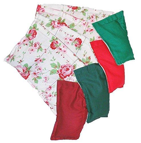 Körnerkissen Wärmekissen Rosali Rosen geeignet für die Wärme sowie Kältetherapie und vieles mehr. 5 Kammern 50x20cm Getreidekissen