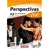 Perspectivas ¡Ya! - Aktuelle Ausgabe: A2 - Kurs- und Übungsbuch mit Vokabeltaschenbuch und Lösungsheft: Mit zwei CDs sowie einer DVD