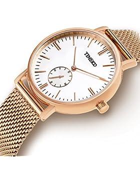Time100 NEU Armbanduhr Damenuhren Mädchenuhr Liebespaar rund #W80189L.02A