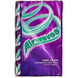 Airwaves 5 Paquets de 10 Chewing-Gums sans Sucres aux Goûts Cool Cassis 70 g