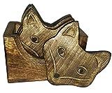 edivine Set von 6Fox Face Holz Tee Untersetzer/für Weihnachten Geschenk/Geschenk für Lovely Sister bei Rakhi