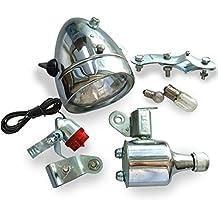 Generic 12V 6W motorizado bicicleta cabeza lámpara de cola fricción generador dínamo luz Kit Traje