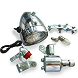Generic 12V 6W Motorisierte Fahrrad Kopf Schwanz Lampe Reibung Generator Dynamo Light Kit Anzug