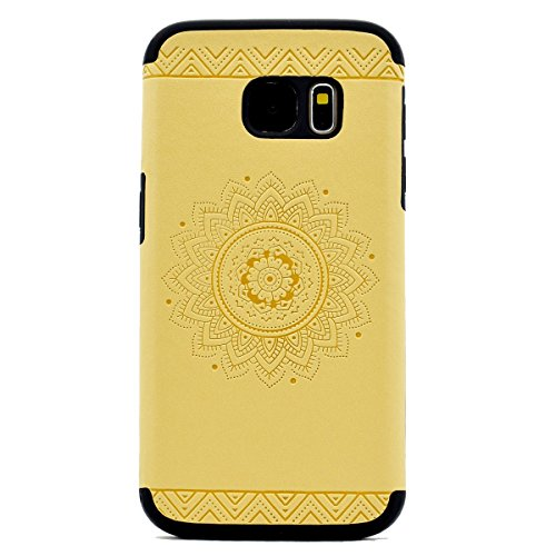 inShang Coque Samsung Galaxy S7 Housse Etui Plastique Case ductile TPU Yellow printing