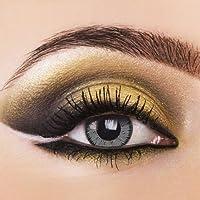 Farbige Kontaktlinsen VIVID GREY lebendig graue Kontaktlinsen farbig ohne Stärke Color Contact lenses 1 Paar (2 Stück) inkl. Kontaktlinsenbehälter