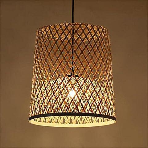 Japonés bambú tejido araña de la sala de estar de la lámpara del restaurante [Eficiencia: A +]