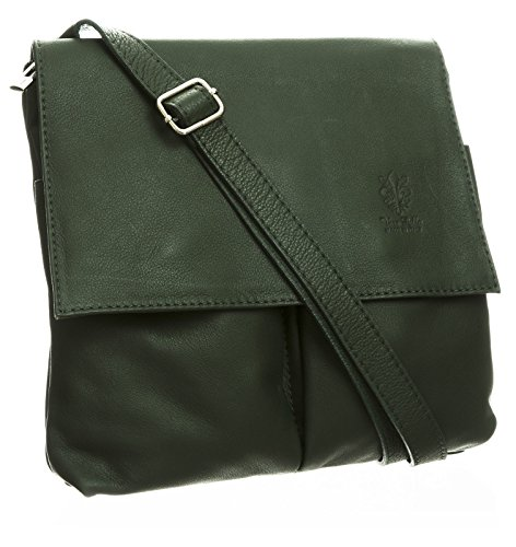 Big Handbag Shop, tracolla da donna, grande Racing Green