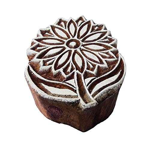 Tone Sonnenblume (Royal Kraft Handgemacht Holz Blöcke Sonnenblume Entwürfe Drucken Stempel - DIY Henna Stoff Textil Papier Ton Keramik Blocke Druckstempel)