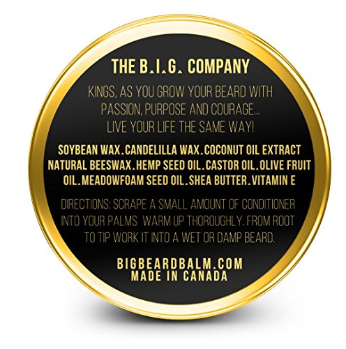 BIG-Beard-Balm-100-Natural-Leave-In-Beard-Conditioner-Canadian-Promotes-Growth-Moisturizes-Your-Beard-Or-Mustache-Beeswax-Shea-Butter-Coconut-Oil-Hemp-Seed-Oil-Olive-Fruit-Oil-Castor-Oil-Vitamin-E