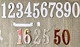 SimpleLettering Stanzschablone/Cutting Dies Zahlen XXL ca. 5 cm (11-teilig, 0,1,2,3,4,5,6=9,7,8,Banner, Semikolon) geeignet für Big Shot Stanzm.