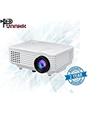 ooze Punnkk P5 800Lumens Mini LED 3D Projector Home Cinema Theater Supports 1080P Video (White)