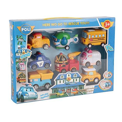 Swiftswan 8 + 1 Roboter Auto Spielzeug Ungiftig Bumerang Auto Set Transformatoren Roboter Niedlichen Cartoon Kinder Lernspielzeug 3 +