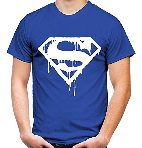 er und Herren T-Shirt | Spruch Retro Comic Geschenk | Weißer Druck (XL, Blau) (Plus-size-superhelden-t-shirts)