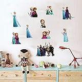 DecorVilla PVC Vinyl Frozen Team Wall Sticker and Decal, 88 x 76 cm (Multicolour)