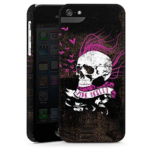 Apple iPhone X Silikon Hülle Case Schutzhülle Totenkopf Schwarz Pink Premium Case StandUp