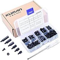 Kit de herramientas Kuman de 180 piezas, Nailon M3 Macho Hembra Espaciador Diversas Tuercas y Tornillos para Ensamblaje K79