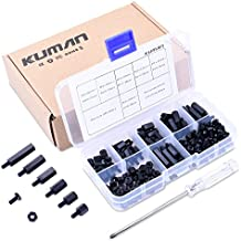 kuman 180 pieces M3 Nylon Male Female Hex Utility Spacer Standoff Screw Nut Assortment Mounting Hardware Kit, Prototyping Accessories For Arduino,Circuit Board K79