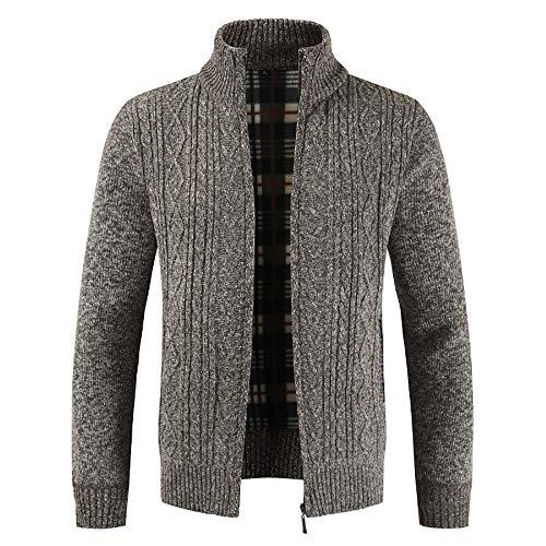 Homebaby cardigan in maglia da uomo giacca stand collare classico felpa manica lunga giacca pullover maglione camicia sportivo maglia invernale elegante cappotto caldo