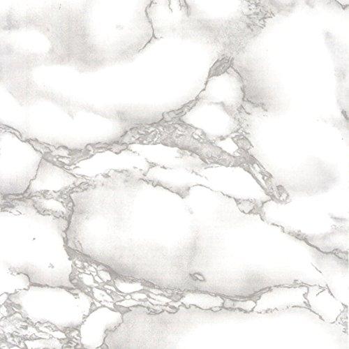 Klebefolie MARMOR GRAU Dekofolie Möbelfolie Tapeten selbstklebende Folie, PVC, ohne Phthalate, grau, 45cm x 2m, 95µm (Stärke: 0,095 mm), Venilia 53357