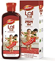 Dabur Lal Tail : Ayurvedic Baby Oil|Clinically Tested 2x Faster Physical Growth for Stronger Bones and Muscles