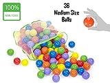 #5: EevOveE ™ 36 Medium Size Plastic Color Balls Genuine Quality Set of 36 balls (Medium Size)