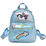 Lispeed Unicorn Rainbow Embroidery - Mochila para niña, diseño de Unicornio, Azul, 20